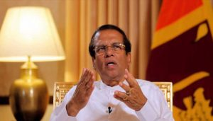 Sri Lanka: Sirisena not running for Lanka presidency