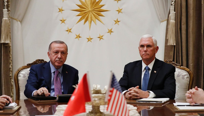 Pence announces Turkey has agreed to cease-fire in Syria
