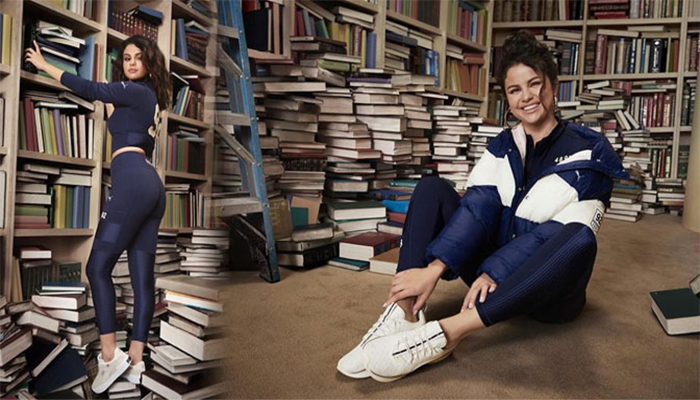 Selena Gomez Kicks Off Controversy After Standing On Books In New Advertisement