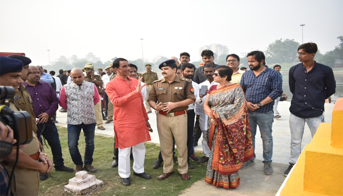 PHOTOS: Mayor and SSP reviewing arrangements for Chhath Puja