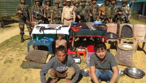 Extremist camp busted by security forces in Assam, two arrested