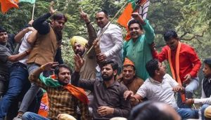 Delhi BJP protests near AAP office after SC clean chit on Rafale deal