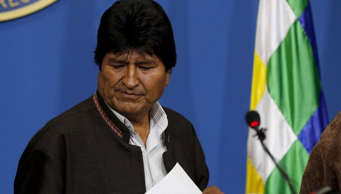 Bolivias president resigns amid election-fraud allegations