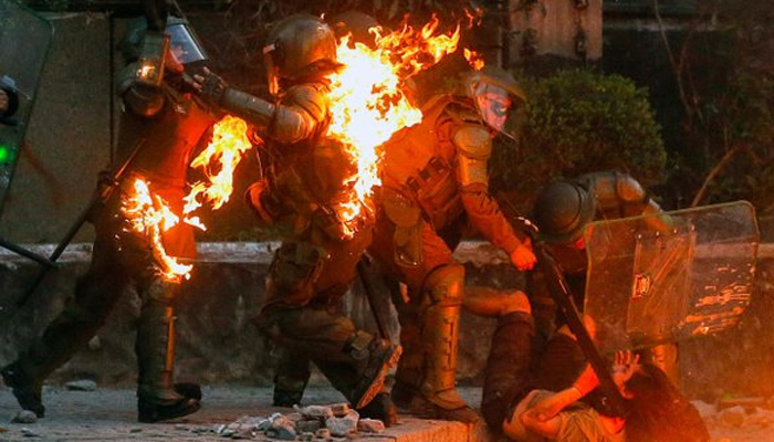 Atleast 23 dead as violent unrest in Chile enters fifth week