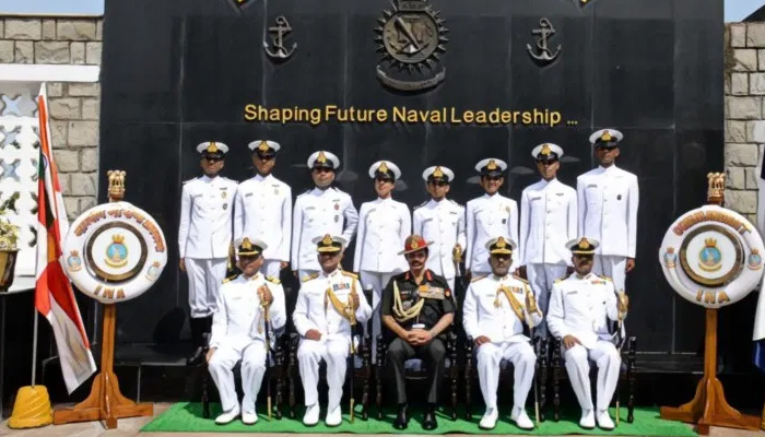 Presidents Colour awarded to Indian Naval Academy