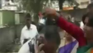 Sena worker pours ink on man for criticising Thackeray
