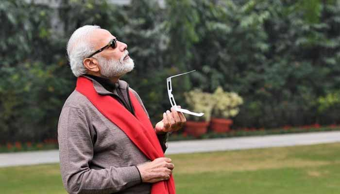 PM Modi blames it on clouds for not able to watch solar eclipse!