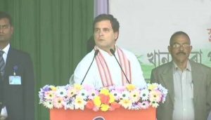 """Assam won't be ruled by chaddi walas,"" RaGa hits out at BJP, RSS"