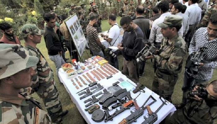 Terrorist hideout busted in Baramulla; arms, ammunition seized