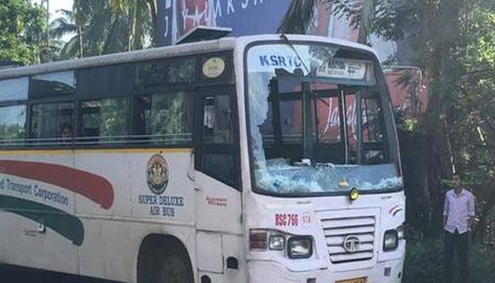 KSRTC buses stoned, roads blocked during hartal against CAA in