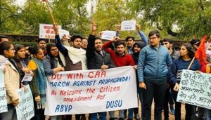 DU students group holds pro-CAA march, vouch for its constitutionality