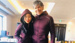 Twinning goals! Milind and Ankita wear same jacket for the last run of 2019