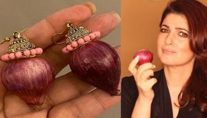 Not diamonds Akshay expresses his love for wife with Onion earrings!