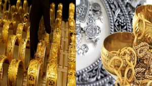 Gold rises by Rs 32, silver gains Rs 116