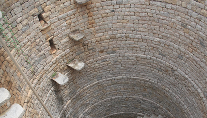 A well constructed in Satavahana-era with unique brickwork found