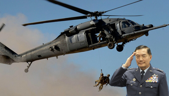 Report: Taiwans top military official survives copter crash