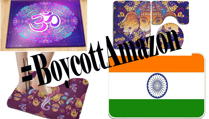 #BoycottAmazon trends for selling rugs with image of Ganesha, Indian flag