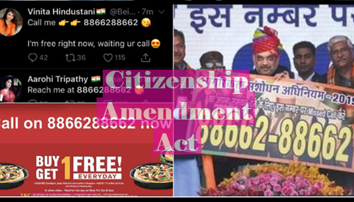 BJPs CAA support line number lures people to sex, netflix and more!!
