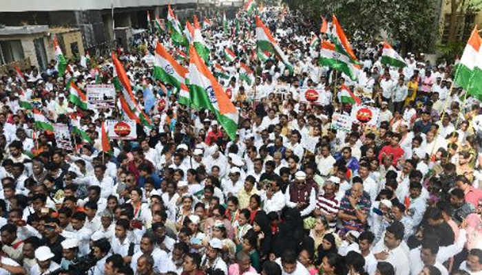 Congress Youth Wing carries out peace march in Delhi