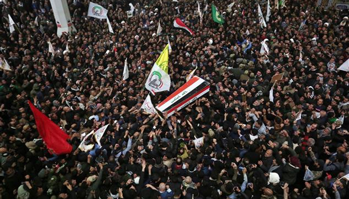 Mourners flood Iran city as top Soleimanis remains return
