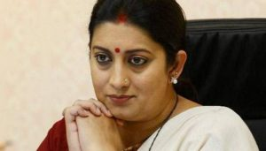FIR filed over alleged illegal use of Smirti Irani's picture by developer in UP