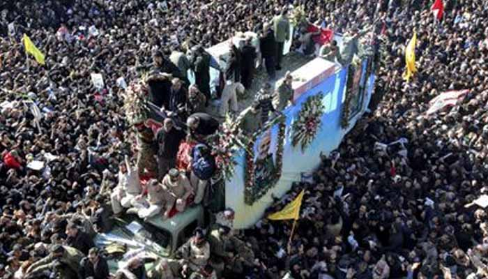 Stampede kills 32 at funeral for Iran general killed by US