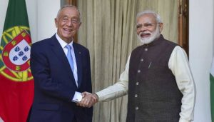 PM Modi holds talks with Portuguese President Marcelo Sousa
