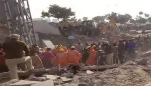 Building collapsed in Jammu, several trapped