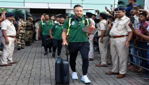 South African cricket team arrives in India