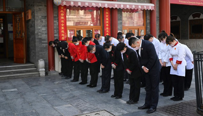China pauses in memory of virus victims and martyrs