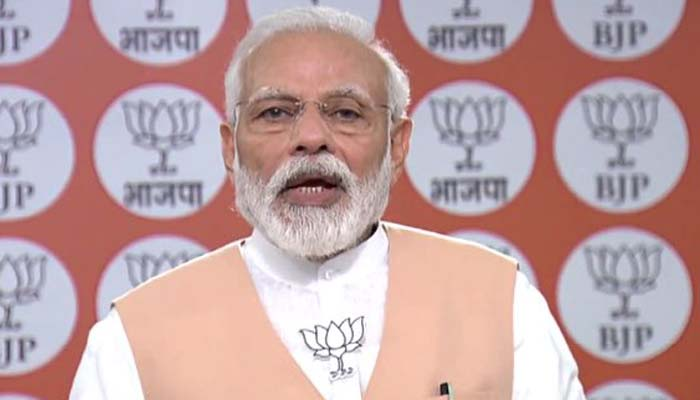 BJP Foundation Day: Ensure every poor gets food, PM Modi urges Party members