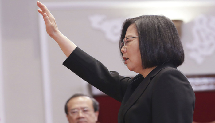 Taiwan President Tsai calls for stability in China relations