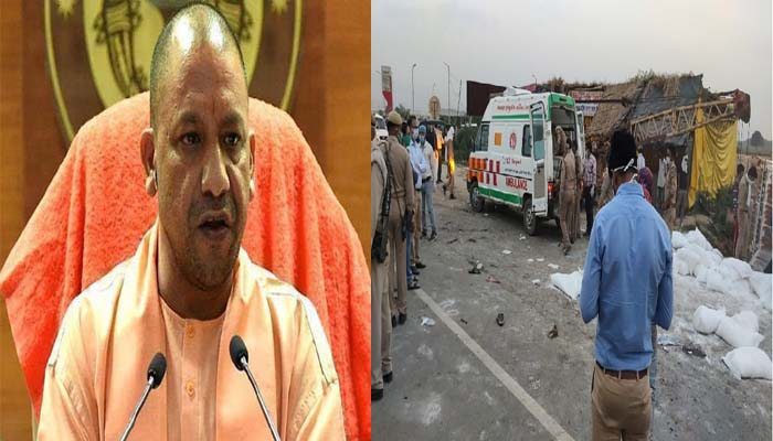 CM Yogi suspends two officials after Auraiya Road accident