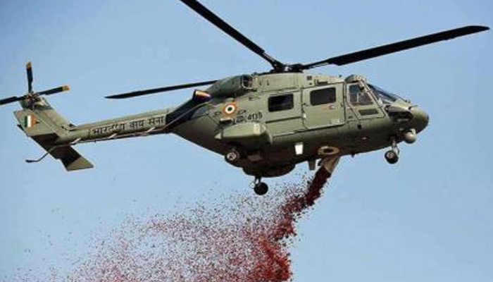 Indian Air Force aircraft showers flower petals for Frontline Corona Warriors
