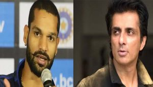 Shikhar Dhawan salutes Sonu Sood for helping migrant workers