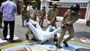 Ajay Lallu, PL Punia arrested during protest outside Lucknow Raj Bhavan