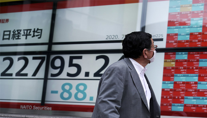 Asian shares mixed after lackluster session on Wall Street