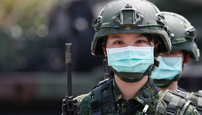 Taiwan holds military drills against potential China threat