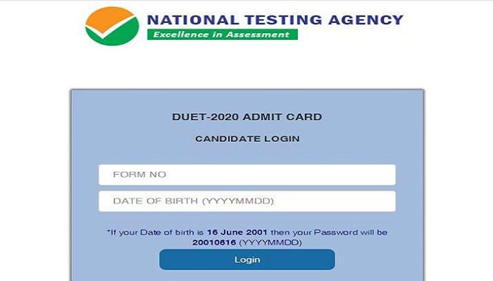 Entrance Exams: NTA Releases DUET 2020 Admit Card,  Download Now