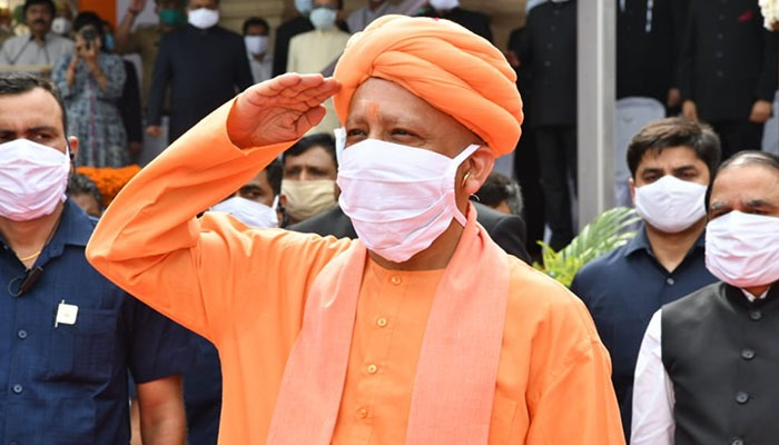 74th Independence Day: CM Adityanath Hoists the Flag at Vidhan Bhawan