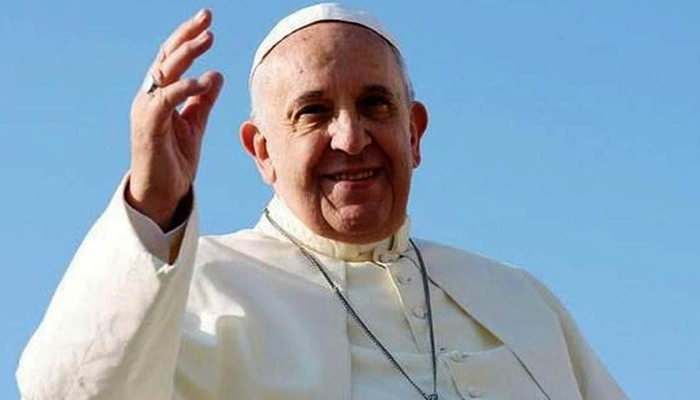 Pope uses mask, sanitiser as he appeals for public health
