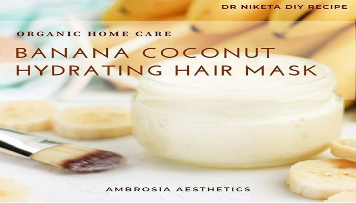 Manage frizzy hair with this DIY Banana Coconut Hair Mask