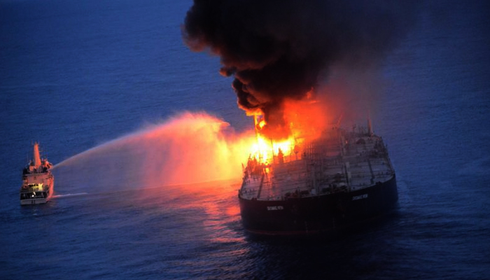 Oil tanker that caught fire off Sri Lankan coast to pay USD 1.8 mn