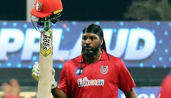 Gayle fined 10 per cent of his mach fee, flung his bat after getting out on 99