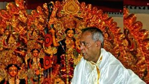 Over 100-year-old Durga at Pranab Mukherjee's ancestral house