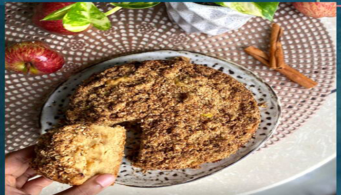 Enjoy Your Favourite IPL Match with this delicious apple crumble cake