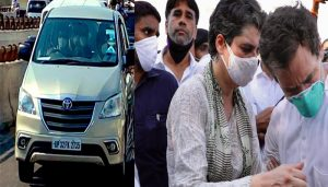 Priyanka-Rahul at victim's home, cops lathi charge Congress workers