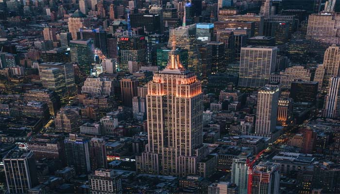 New Yorks Iconic Empire State Building Lit Up in Orange to celebrate Diwali