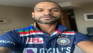 Shikhar Dhawan shares a glimpse of Team India's new jersey