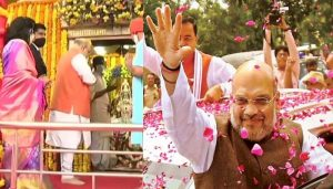 Amit Shah in Hyderabad: Grand Road show of BJP begins